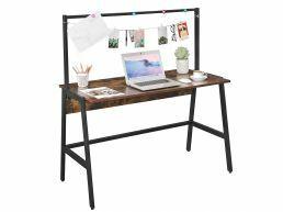 Bureau vintage - 120 cm - avec barre d'accroche - brun vintage