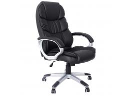 Chaise de bureau - design de luxe - rembourrage épais - noir