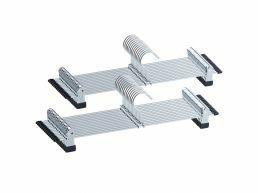 Cintres antidérapants - large - 40 cm de long - pinces réglables - crochet rotatif - 20 pièces - gris argent
