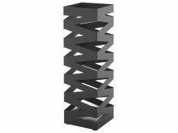 Deuxième chance - Porte-parapluie en métal - avec bac de récupération d'eau - design tendance - noir