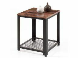 Table d'appoint carrée - 45x55x45 cm - vintage brun