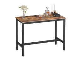 Table de bar mi-hauteur - vintage - 120x90x60 cm - vintage brun