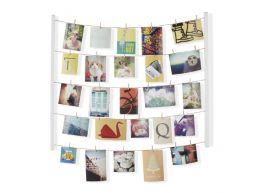 Umbra Hangit - cadre photo en bois avec fils - blanc
