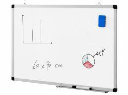 Tableau blanc magnétique - 60 x 90 cm - blanc