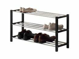 Meuble à chaussures - look moderne - 80x45x28 cm - noir