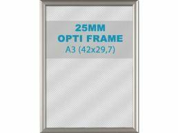 Cadre clic-clac opti - 25 mm - A3 - gris argenté
