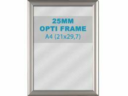 Cadre clic-clac opti - 25 mm - A4  - gris argenté