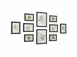 Deuxième chance - Mur de cadres - 10 cadres photo de différentes tailles - noir