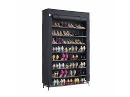 Étagère à chaussures - extra large - 10 niveaux - jusqu'à 54 paires de chaussures - 100x162x28 cm - noir