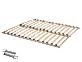 Sommier à lattes - Flex Basic - 160 x 200 cm (2x 80x200 cm) - bois d'hêtre