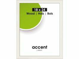 Nielsen - Accent Wood - cadre photo - 18 x 24 cm - blanc
