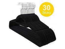 Cintres antidérapants - pliables - crochet rotatif - 30 pièces - noir
