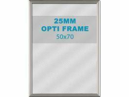 Cadre clic-clac opti - 25 mm - 50 x 70 cm - gris