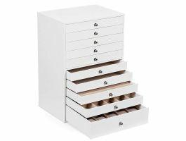Boîte à bijoux XXL - 10 niveaux - blanc