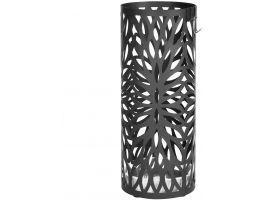 Porte-parapluie en métal - rond - avec réservoir d'eau - ovale - noir