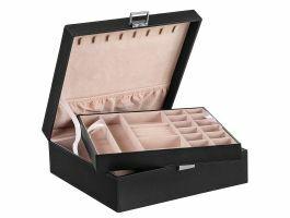 Boîte à bijoux - 2 compartiments - noir