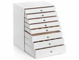 Boîte à bijoux XXL - 8 tiroirs - blanc