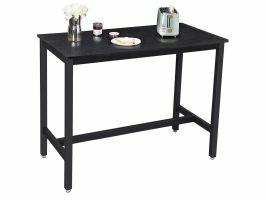 Table de bar mi-hauteur - 120x90x60 cm - noir