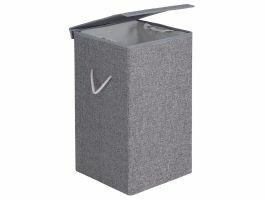 Panier à linge - pliable - 1 compartiment - 85 litres - 36x66x36 cm - gris