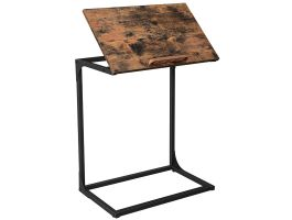Table d'appoint - surface réglable - style industriel - 55x66x35 cm - brun vintage