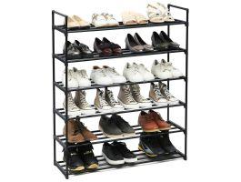 Meuble à chaussures - empilable - 92x113x30 cm - noir