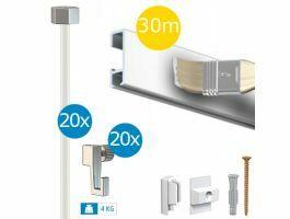Artiteq - tableau budget - paquet click rail 30 m - blanc