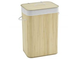Panier à linge - 1 compartiment - 72 litres - 42x60x32 cm - bambou