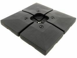 Base plastique - pour parasol déporté - 4 parties - 80 kg - noir