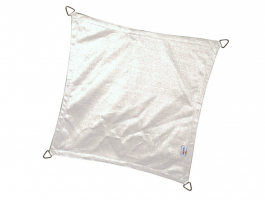 Nesling - Coolfit - voile d'ombrage - carrée 3,6x3,6 m - blanc neige