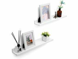 Ensemble de 2 étagères murales - rectangulaire - 60x5x10 cm - blanc