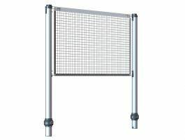 Gard & Rock - poteaux extensibles - multisport - avec filet - aluminium