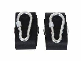 Mousquetons et sangles de suspensions - kit de fixation - pour hamac - gris argenté