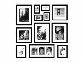 Mur de Cadres IV TORONTO - 12 cadres photos - noir
