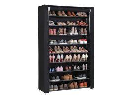 Meuble à chaussures - XXL - 54 paires de chaussures - 100x162x28 cm - noir