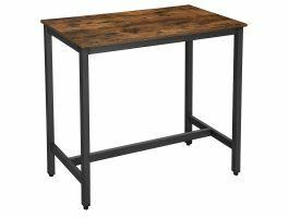 Table haute de bar - 120x105x60 cm - brun vintage/noir