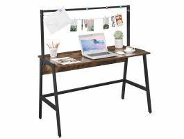 Bureau vintage - 120 cm - avec barre d'accroche - noir/brun vintage