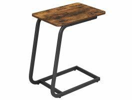 Table d'appoint - sans roulettes - forme oblique - 50x62x35 cm - brun vintage