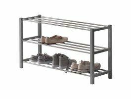 Meuble à chaussures - look moderne - 80x45x28,5 cm - gris