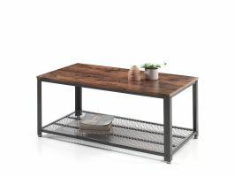 Table basse - vintage - 106x45x60 cm - brun/noir