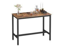 Table de bar mi-hauteur - vintage - 120x90x60 cm - brun/noir