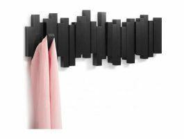 Umbra Sticks - porte-manteaux mural - 5 crochets - 49x18x3 cm - noir
