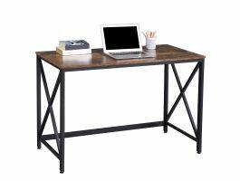 Bureau - style industriel - 115 cm - noir/brun vintage