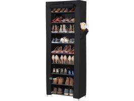 Meuble à chaussures - 27 paires de chaussures - 58x160x28 cm - noir