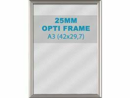 Cadre clic-clac opti - 25 mm - A3 - gris