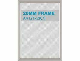 Cadre clic-clac - 20 mm - A4 21 x 29,7 cm