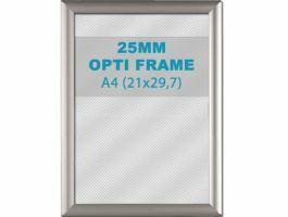 Cadre clic-clac opti - 25 mm - A4 - gris