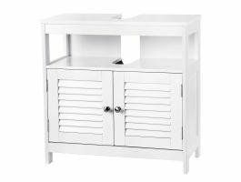 Sous-meuble - 2 portes 1 niche - 60x60x30 cm - blanc