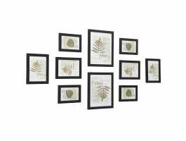 Mur de cadres - 10 cadres photo de différentes tailles - noir